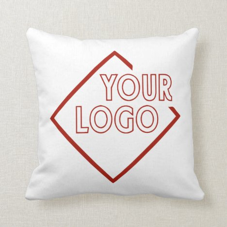 Your Business Corporate Brand Logo Personalized Throw Pillow