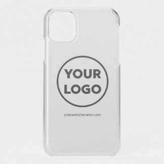 Your Business Logo and Company Website or Slogan iPhone 11 Case