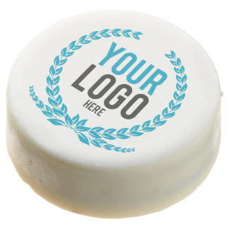 Your Business Logo Chocolate Dipped Oreo
