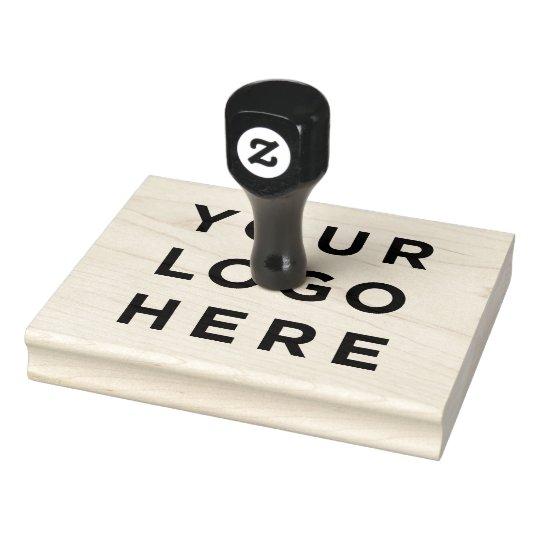 Your Business Logo Custom Rubber Stamp Zazzle Com