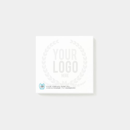 Your Business Logo Faded Backdrop  Customized 3x3 Post_it Notes