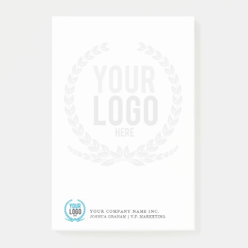Your Business Logo Faded Backdrop Customized Post-it Notes