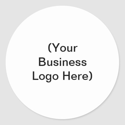(Your Business Logo Here) Classic Round Sticker