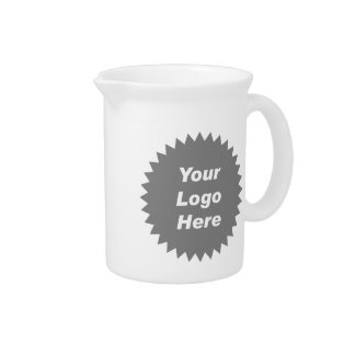 Your business logo here promo beverage pitcher