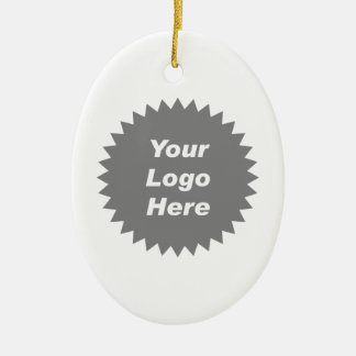 Your business logo here promo christmas ornaments