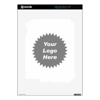 Your business logo here promo decals for iPad 2