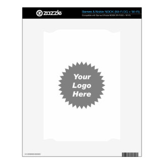 Your business logo here promo NOOK decal