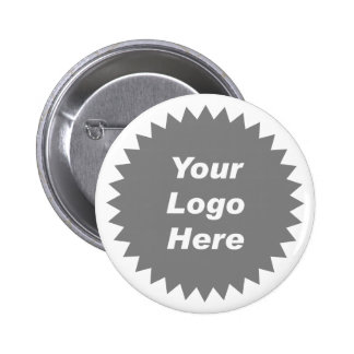 Your business logo here promo pinback button
