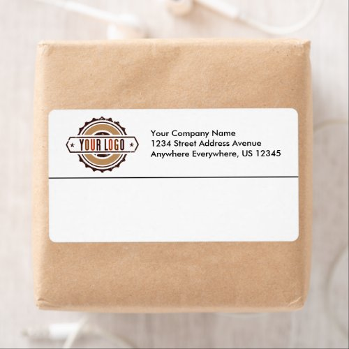 Your Business Logo Personalized Shipping Labels