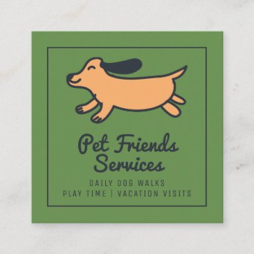 Your Business | Pet Services Square Business Card