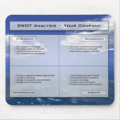 Your Business Swot On A Mousepad. Mouse Pad at Zazzle