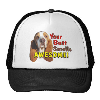 Your Butt Smells AWESOME! Basset Hound Dog Cap Trucker Hat
