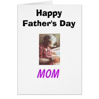 Your can't spell father without H-E-R Greeting Card
