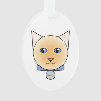 Your Cartoon Red-Point Siamese Ornament