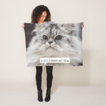 Your Cat Photo 'Spoonie's best friend' Wheelchair Fleece Blanket