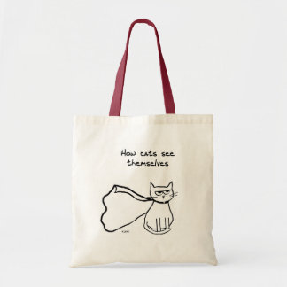 Your Cat the Superhero - Funny Cat Gift Tote Bag