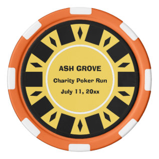 Your Charity Poker Run Participant Chip at Zazzle