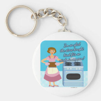 Your Cheatin Brownies Snarky Housewife Basic Round Button Keychain