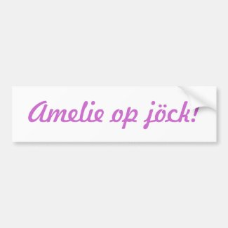 """Your child"" op jöck! Bumper Sticker"