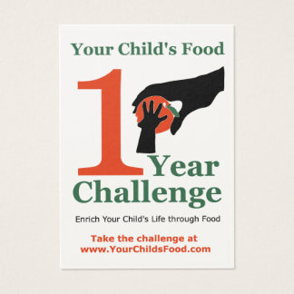 Your Child's Food 1 Year Challenge Card