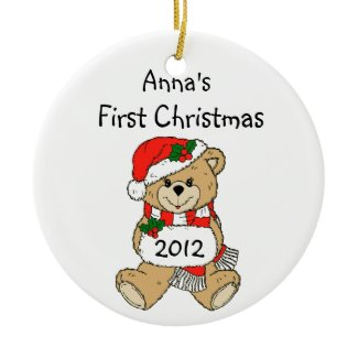 Your Child's Name First Christmas Ornament 2012