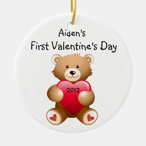Your Child's Name First Valentine's Day Ornament