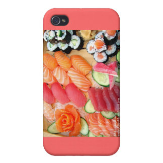Your Choice Sushi Plate Gifts Mugs Etc Cover For iPhone 4
