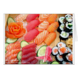 Your Choice Sushi Plate Gifts Tees Mugs Etc Card