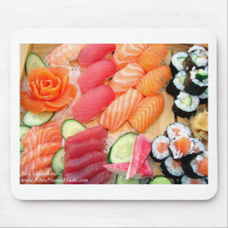 Your Choice Sushi Plate Gifts Tees Mugs Etc Mouse Pad
