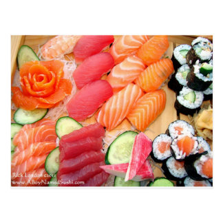 Your Choice Sushi Plate Gifts Tees Mugs Etc Postcard