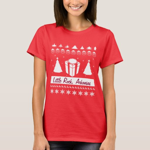 Your City Name Ugly Christmas Sweater Gift Trees