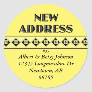 Your Color Choice! New Address Stickers