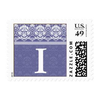 YOUR COLOR Elegant Damask Lace Monogram I stamp
