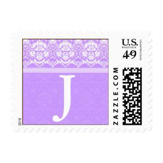 YOUR COLOR Elegant Damask Lace Monogram J stamp