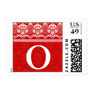 YOUR COLOR Elegant Damask Lace Monogram O stamp