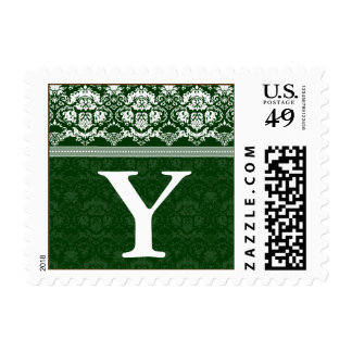 YOUR COLOR Elegant Damask Lace Monogram Y stamp