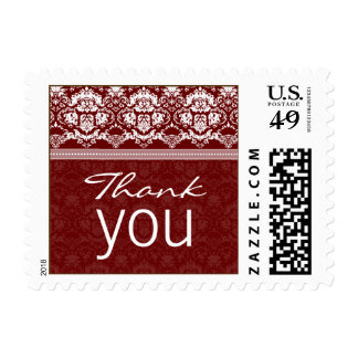 YOUR COLOR Elegant Damask Lace Thank You stamp