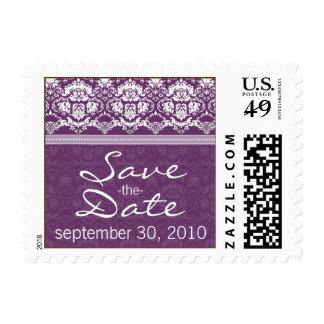 YOUR COLOR Elegant Damask Save the Date Stamp