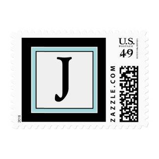 YOUR COLOR Simply Elegant Monogram J Postage