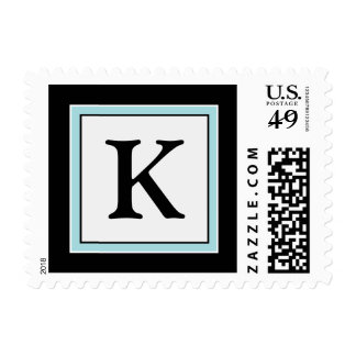 YOUR COLOR Simply Elegant Monogram K Postage