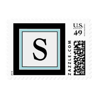 YOUR COLOR Simply Elegant Monogram S Postage