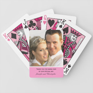 Your Color Wedding Playing Cards with Photo