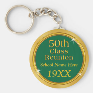 Your COLORS and TEXT 50th Class Reunion Favors Keychain