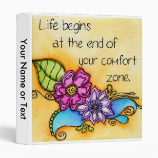Your Comfort Zone 3 Ring Binder