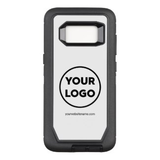 Your Company Logo and Business Website or Slogan OtterBox Defender Samsung Galaxy S8 Case