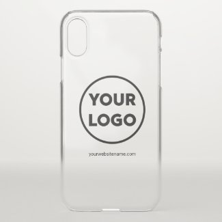 Your Company Logo and Business Website or Slogan Uncommon iPhone Case