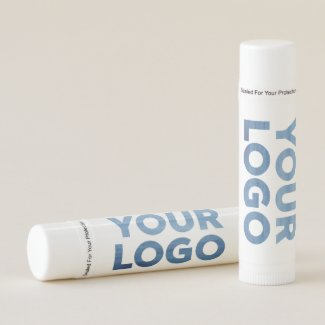 Your Company Logo and Business Website or Text Lip Balm