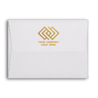 Your Company Logo Back Print Note Card Envelope