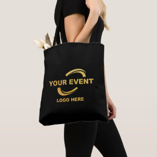 Your Company Logo Black Tote Bag