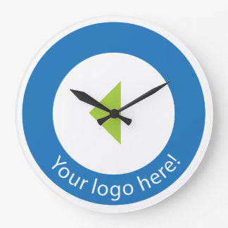 Your Company Logo Easy Template Large Clock